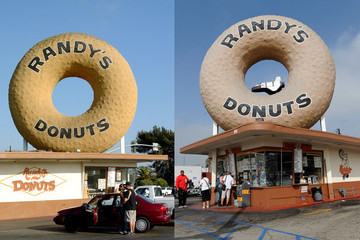 Space Shuttle 2003 Stock Photo of Randy's Donut shop in Inglewood, Los Angeles