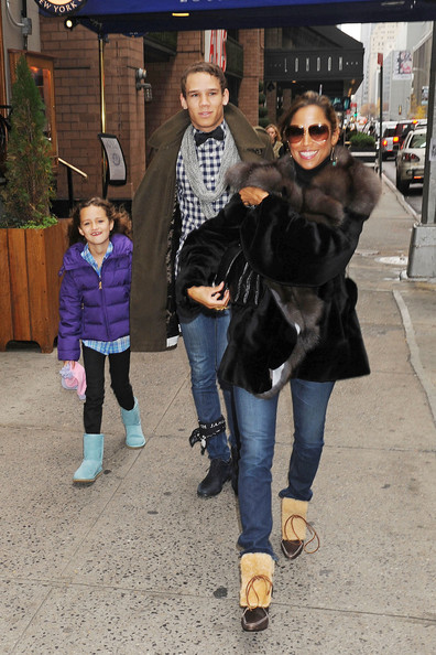 "Stacey Dash, accompanied by her two children Austin and Lola, walk around NYC together, bundled up for the cold winter weather. Dash, 44, received her big break in the 1995 film ""Clueless"" as Dionne and is the cousin of Damon Dash."