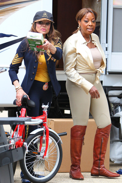 "Star Jones La Toya Jackson and Star Jones are spotted participating in a challenge for the reality TV series ""The Celebrity Apprentice"". The contestants could be seen setting up a campsite on the streets in Manhattan."