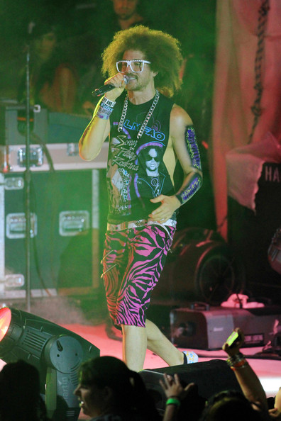 Stefan Kendal Gordy and DJ Redfoo - LMFAO Performs on Miami Beach