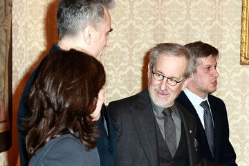 Steven Spielberg Daniel Day-Lewis The Cast of 'Lincoln' in Italy