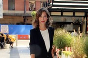 Supermodel Christy Turlington Burns arrives at the Standard Hotel in NYC. The former Calvin Klein beauty showed off her elegance as she arrived at the upscale hotel in a pantsuit and open toed heels.