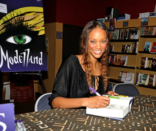 Tyra Banks Modelland: Tyra Banks Was Looking ____ At Her Book Signing? (Pics