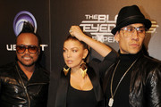 """Superstar group """"The Black Eyed Peas""""  (Apl De Ap, Fergie, and Taboo) celebrate the launch of their new video game """"The Black Eyed peas Experience"""" in Los Angeles."""