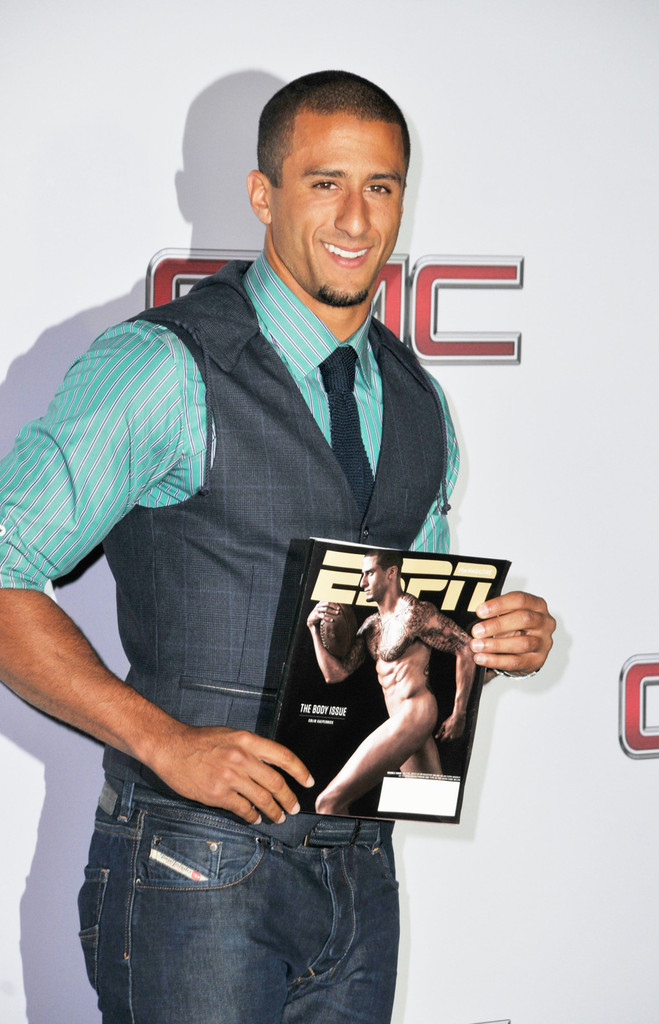 Colin Kaepernick in Arrivals at EPSN The Magazine's Body ...