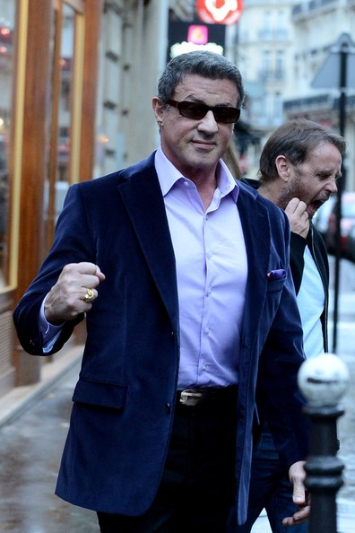 Sylvester Stallone at the Berluti Boutique in Paris