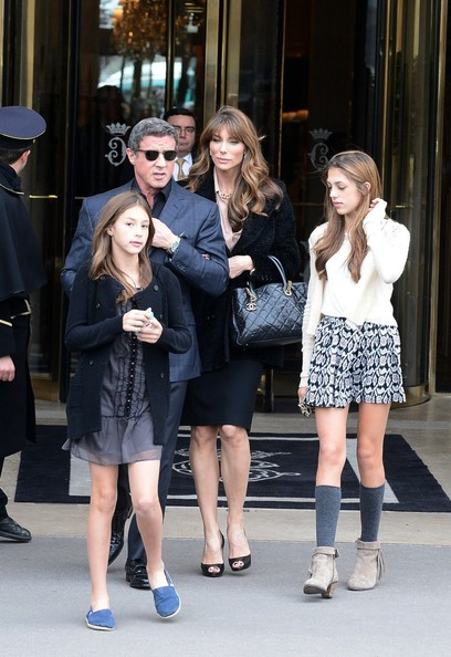 Sylvester Stallone and Family Visit the Decorative Arts Museum