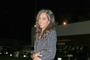 Terri Seymour leaves Matsuhisa Restaurant after having dinner with friends in Los Angeles