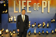 Ang Lee attends the premiere of 'Life Of Pi' held at the Empire Cinema, Leicester Square in London, England.