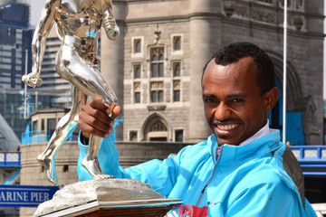 Tsegaye Kebede London Marathon Winners Photo Call