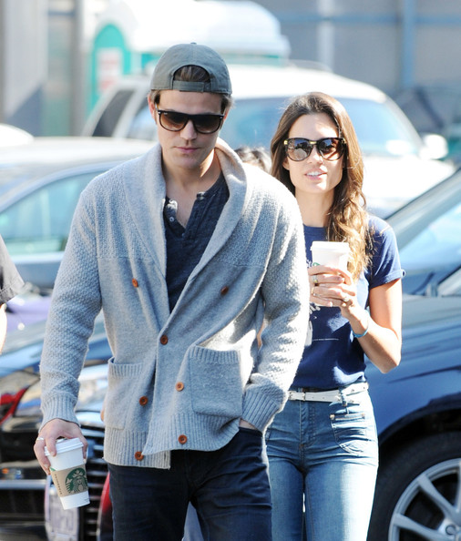 Paul Wesley and Wife i...