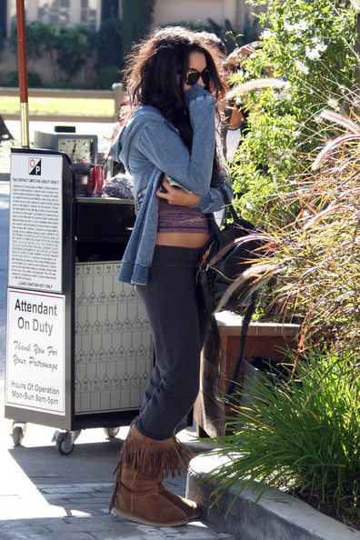Vanessa Hudgens A shy Vanessa Hudgens hides her face as she visits Ricki Criswell skin care and waxing studio. Photograph: Matt Symons, © PacificCoastNews.