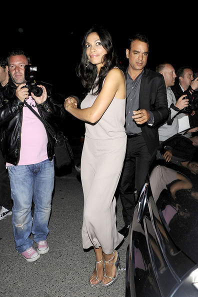 Rosario Dawson parties at the 'F**k Me I'm Famous' party at the Biolo nightclub in Cannes during the 64th Annual Cannes Film Festival.