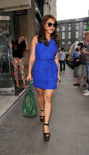 The Saturdays Leave Their London Hotel