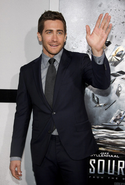 "Jake Gyllenhaal poses for photographs at the Los Angeles premiere of his new film ""Source Code"", held at the Arclight Cinemas Los Angeles."