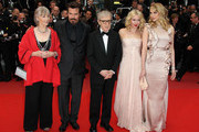 Gemma Jones, Josh Brolin, Woody Allen, Naomi Watts and Lucy Punch at the 'You will meet a tall dark stranger' screening during the Cannes Film Festival held at the Palais des Festivals on the famous Croisette.
