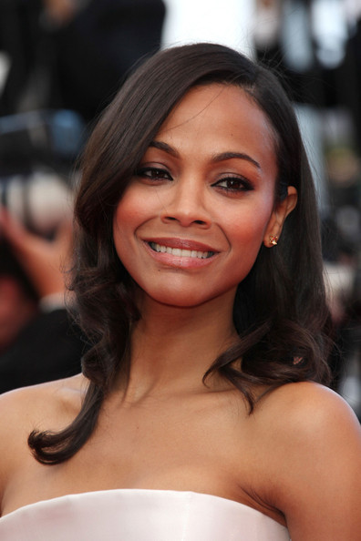 "Zoe Saldana arrives before the screening of ""The Tree of Life"", held during the 64th Annual Cannes Film Festival."