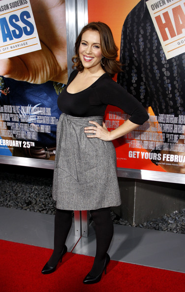 "Alyssa Milano at the Los Angeles premiere of ""Hall Pass"" held at the ArcLight Cinemas Cinerama Dome, Los Angeles."