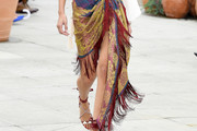Bella Hadid Fringed Skirt