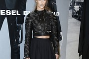 Nina Agdal Leather Jacket