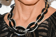 Jane Fonda Black Statement Necklace