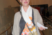 Katherine Heigl Patterned Scarf
