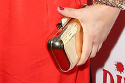 Drew Barrymore Metallic Clutch