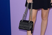 Zoey Deutch Quilted Leather Bag