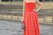 Kiernan Shipka Strapless Dress