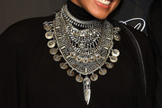 Alicia Keys Silver Statement Necklace