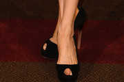 Michelle Yeoh Peep Toe Pumps
