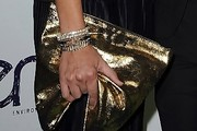 Naomi Scott Metallic Clutch