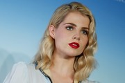 Lucy Boynton Medium Wavy Cut