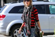 Alessandra Ambrosio Patterned Scarf