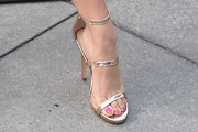 Brec Bassinger Strappy Sandals
