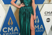 Carly Pearce Strapless Dress