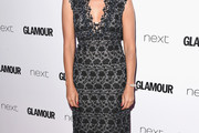 Rashida Jones Embroidered Dress
