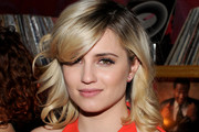Dianna Agron Medium Wavy Cut with Bangs