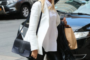 Karolina Kurkova Leather Shoulder Bag