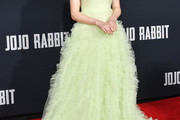 Thomasin McKenzie Halter Dress