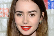 Lily Collins Medium Straight Cut