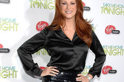 Angie Everhart Button Down Shirt