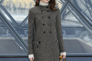 Emma Stone Tweed Coat