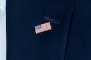 Barack Obama American Flag Pin