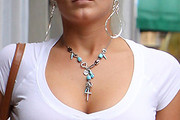 Brooke Hogan Gemstone Lariat Necklace