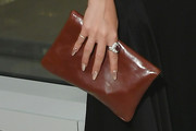 Emily Ratajkowski Leather Clutch