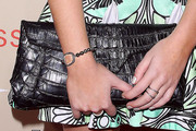 Carly Chaikin Leather Clutch
