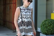 Julianne Hough Print Blouse