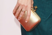 Keltie Knight Metallic Clutch