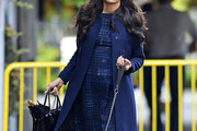 Famke Janssen Wool Coat